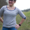 MissKnopf Shirt mit Riegel Wolleseide