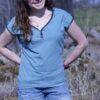MissKnopf Shirt mit Riegel ärmellos